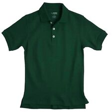 Polo Shirt School Uniforms Hunter Green S/S French Toast 10H Unisex Cotton Blend