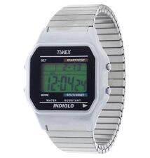 Digitale Timex Armbanduhren aus Edelstahl