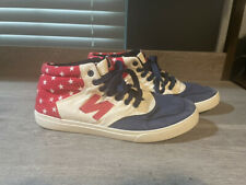 Tennis Shoes New Balance, UK British Flag, Blue Red White, US Sz 9