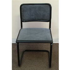 Breuer Chair with Fully upholstered seat & back with black frame