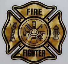 """Gold Vinyl Decal, Firefighter, 3.25""""wide  #FD68"""
