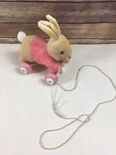 Flopsy Bunny Pink Peter Rabbit Beatrix Potter Pull Along Baby Toy