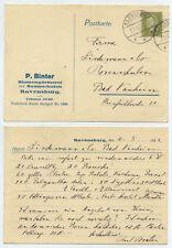 53290-tarjeta postal-p. Binter viveros-Ravensburg 2.5.1932 después de Bad Nauheim