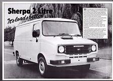 Leyland Sherpa 2-Litre c1980 UK Market Launch Leaflet Sales Brochure
