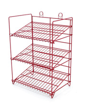For Sale Counter Gum, Candy and Snack Display Rack - 3 Shelf (Red)