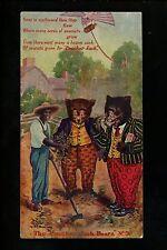 Teddy Bear Vintage postcard Moreland 1907 Cracker Jack Bears #9 Black Americana