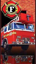"""Fire Truck Beach Towel 30"""" X 60"""" Fire Truck Towel"""