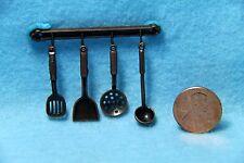 Dollhouse Miniature Hanging Utensils Antique Iron ~ G7026