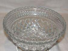Clear Depression glass geometric pattern glass bowl