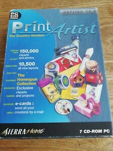 Print Artist PC CD-ROM Software (7 x disc set) good condition Cards, labels..