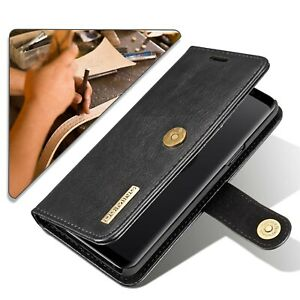 Top Soft Leather Samsung S10 Plus Leather Wallet with Detachable Phone Case Cove