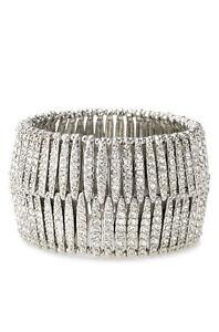 Stella & Dot Ainsley Pave Stretch Bracelet SILVER