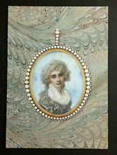 RICHARD COSWAY, 'portrait miniature of Lady Elizabeth Foster' promotional card.