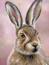 LIMITED EDITION PRINT WITH MOUNT BY SARAH FEATHERSTONE, THE HARE, MOUNTED,UK ART