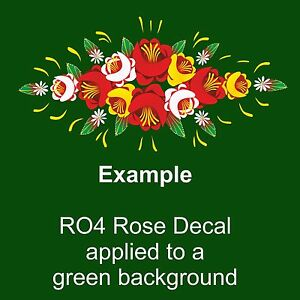 RO4 Self Adhesive Traditional Roses for Canal/Narrow Boat Decoration & Canalia
