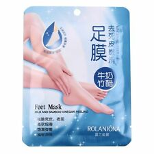 New 1 Pair Milk Bamboo Vinegar Remove Dead Skin Foot Skin Smooth Mask Care SY