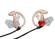 SureFire EP4 Earplugs Clear Medium Sonic Defenders Triple-Flanged 24dB w/ Case