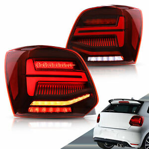 For 2011-2017 Volkswagen Polo  VLAND LED Tail lights With Sequential Indicators