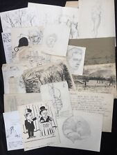Ian McIlhenny-Glasgow School of Art-Cartera de dibujos c.1950's-80's