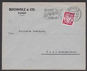 Germany. Danzig. Commercial Cover to Zajaczkowo, Poland. Sent 23/08/1938