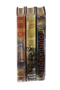 The Foundation Trilogy by Isaac Asimov First Edition W/ Original Jackets