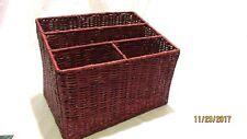 Brown Wicker Organizer Basket