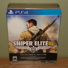 New/Sealed~Sniper Elite III 3 Collector's Edition - PS4 - Tin Box, Playing Cards