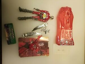 Palisades Micronauts clear red Pharoid loose/used (Microman)