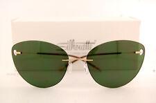 New Silhouette Sunglasses TMA ICON 8154 6205 Gold/Green For Women