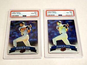 🔥  Lot of 2 1998 Topps Finest Derek Jeter #92 PSA 10 Gem Mint + 8 Yankees