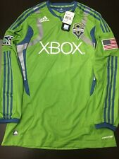 Seattle Sounders Authentic Long Sleeve Jersey BNWT Medium MLS Soccer Adidas
