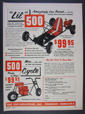 1959 LIL 500 Cart go-kart & Cycle mini-bike minibike vintage print Ad