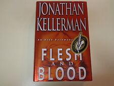 Flesh and Blood by Jonathan Kellerman HBDJ Signed Alex Delaware Novel