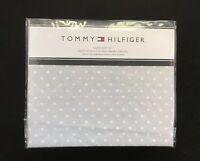 Tommy Hilfiger GRAY White Dot QUEEN Size Sheet Set 4 Piece