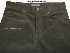 New Mens Marks & Spencer Regular Fit Green Cord Trousers Waist 32 L28LABEL FAULT