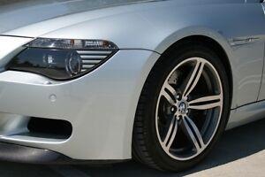 4 Silver Corner Light Covers Amber for BMW E63 E64 650i M6 Headlights Headlamp