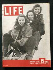 LIFE Magazine February 3,1947 JACK BENNY - JERSEY DRESS - LEO DUROCHER - BULL FI