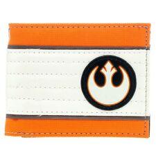 Official Star Wars Rebel Alliance Logo Symbol Bi-Fold Wallet - Orange Black Mens