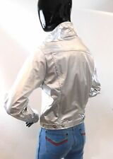 New listing Vintage 1970s Metallic silver disco jacket by Willy Woo