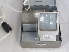 Aldis Slide Viewer Lightbox Metal Hinged Tin con Vintage Bakelite Plug Untested