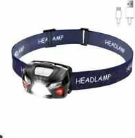 Mini Lampe Frontale LED Etanche Rechargeable par USB pour Travail Camping Course