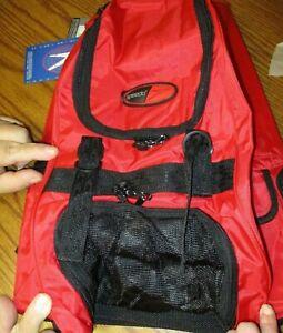 Speedo Backpack Swim Camp Performance Hiking Sports  BRAND NEW Red Black ST12-5