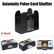 1-6 Deck Automatic Poker Card Shuffler Casino Card Game Machine Battery Operated