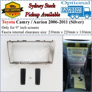For 9 Nine Inch Screen Fascia facia Fits Toyota Camry / Aurion 2006-2011*