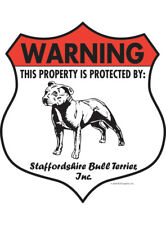 Warning! Staffordshire Bull Terrier - Property Protected Aluminum Dog Sign