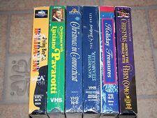 Christmas VHS Lot: Holiday Inn, Connecticut, Angel, Perry Como, Pavarotti