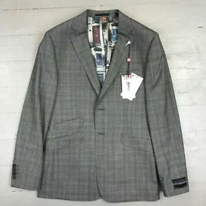 Ted Baker - VIENAN Grey Sterling Check 2 Piece Suit - UK42 - RRP £429