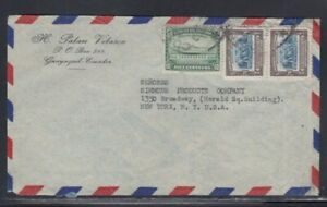 ECUADOR Commercial Cover Guayaquil to New York City January 1940 Cancel