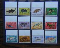 British Honduras 1968 Wildlife set to $5 MM SG256 - SG267 (MM on margin only)