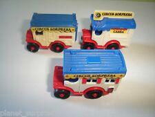 CIRCUS WAGONS MODEL CARS SET 1988 1:87 H0 - KINDER SURPRISE PLASTIC MINIATURES